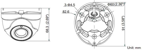 domo turbohd tvi  3 mpx  1080p  gran angular 2 8 eyeball
